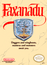 Faxanadu Nintendo NES cover artwork