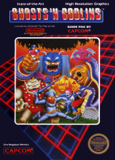Ghosts'n Goblins Nintendo NES cover artwork