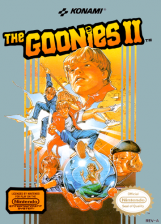 Goonies II, The Nintendo NES cover artwork