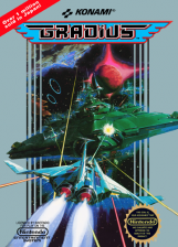 Gradius Nintendo NES cover artwork
