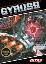 Gyruss Nintendo NES cover artwork
