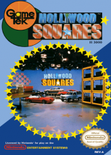 Hollywood Squares Nintendo NES cover artwork