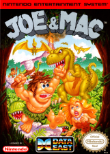 Joe & Mac Nintendo NES cover artwork