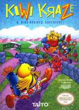Kiwi Kraze - A Bird-Brained Adventure! Nintendo NES cover artwork