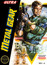 Metal Gear Nintendo NES cover artwork