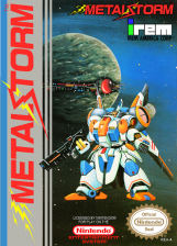 Metal Storm Nintendo NES cover artwork