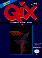 Qix Nintendo NES cover artwork