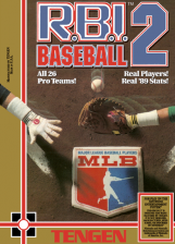 R.B.I. Baseball Nintendo NES cover artwork