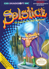 Solstice - The Quest for the Staff of Demnos Nintendo NES cover artwork
