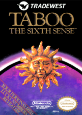 Taboo - The Sixth Sense Nintendo NES cover artwork