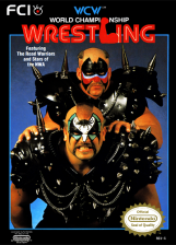 WCW World Championship Wrestling Nintendo NES cover artwork