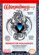 Wizardry - Knight of Diamonds - The Second Scenario Nintendo NES cover artwork