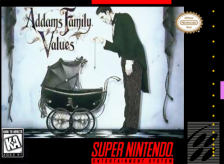 Addams Family Values Nintendo Super NES cover artwork