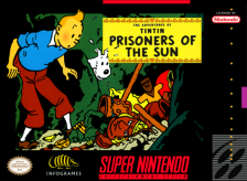 Adventures of Tintin, The - Prisoners of the Sun Nintendo Super NES cover artwork