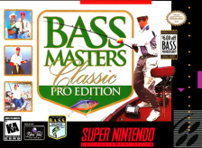 BASS Masters Classic - Pro Edition Nintendo Super NES cover artwork