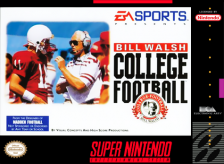 Bill Walsh College Football Nintendo Super NES cover artwork