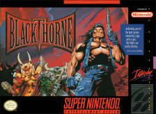Blackthorne Nintendo Super NES cover artwork