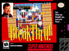 BreakThru! Nintendo Super NES cover artwork
