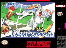Bugs Bunny in Rabbit Rampage Nintendo Super NES cover artwork