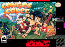 Congo's Caper Nintendo Super NES cover artwork