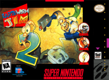 Earthworm Jim 2 Nintendo Super NES cover artwork