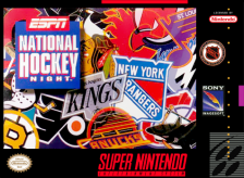 ESPN National Hockey Night Nintendo Super NES cover artwork