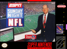 ESPN Sunday Night NFL Nintendo Super NES cover artwork