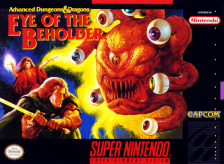 Eye of the Beholder Nintendo Super NES cover artwork