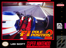 F1 Pole Position 2 Nintendo Super NES cover artwork