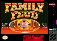 Family Feud Nintendo Super NES cover artwork