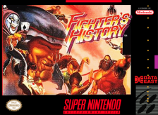 Fighter's History Nintendo Super NES cover artwork