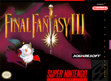 Final Fantasy III Nintendo Super NES cover artwork