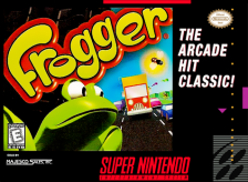 Frogger Nintendo Super NES cover artwork