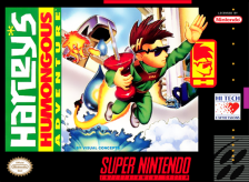 Harley's Humongous Adventure Nintendo Super NES cover artwork