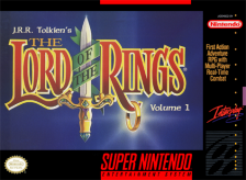 J.R.R. Tolkien's The Lord of the Rings, Vol. I Nintendo Super NES cover artwork