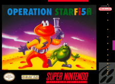 Operation Starfi5h - James Pond 3 Nintendo Super NES cover artwork