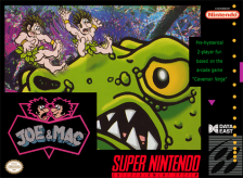 Joe & Mac Nintendo Super NES cover artwork