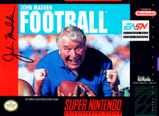 John Madden Football Nintendo Super NES cover artwork