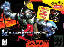 Killer Instinct Nintendo Super NES cover artwork