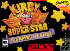 Kirby Super Star Nintendo Super NES cover artwork