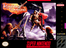 Knights of the Round Nintendo Super NES cover artwork