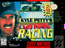 Kyle Petty's No Fear Racing Nintendo Super NES cover artwork