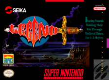 Legend Nintendo Super NES cover artwork