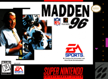 Madden NFL 96 Nintendo Super NES cover artwork