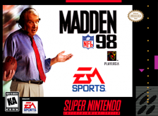 Madden NFL 98 Nintendo Super NES cover artwork