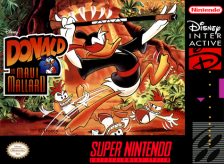 Maui Mallard in Cold Shadow Nintendo Super NES cover artwork