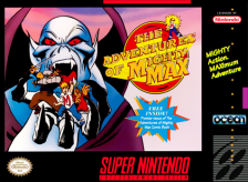 Mighty Max Nintendo Super NES cover artwork