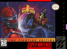 Mighty Morphin Power Rangers - The Fighting Edition Nintendo Super NES cover artwork
