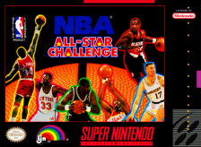NBA All-Star Challenge Nintendo Super NES cover artwork