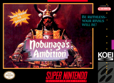 Nobunaga's Ambition Nintendo Super NES cover artwork